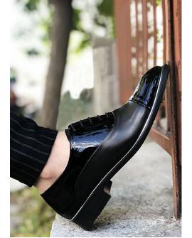Boy Uzatan Ayakkabı Deri Rugan Model