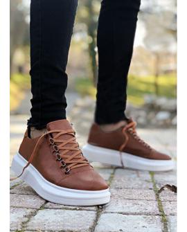 Boy Uzatan Ayakkabı Hakiki Deri KAHVERENGİ  Spor Model
