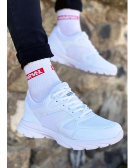 Boy Uzatan Ayakkabı Deri Beyaz  Spor Model