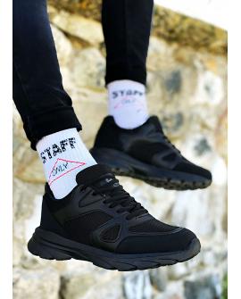 Boy Uzatan Ayakkabı Siyah  Spor Model