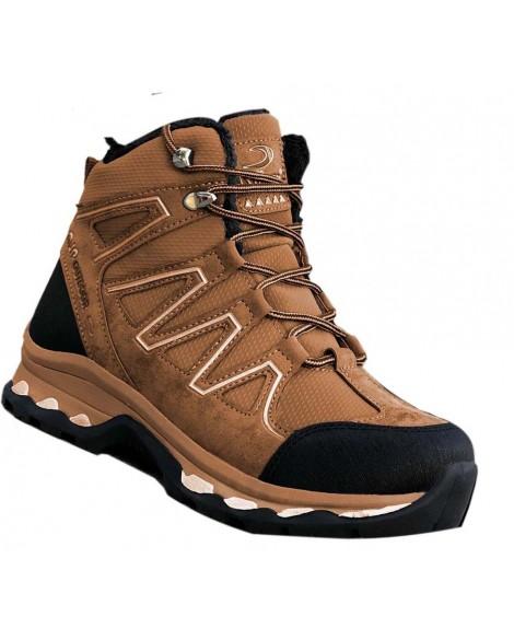 Boy Uzatan Ayakkabı Trekking Model Kahve Rengi Nubuk Kışlık