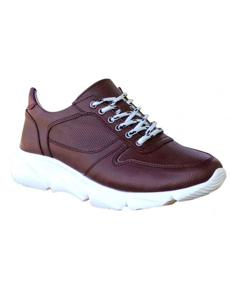 Boy Uzatan Spor Ayakkabı Beyaz + 7 Cm.