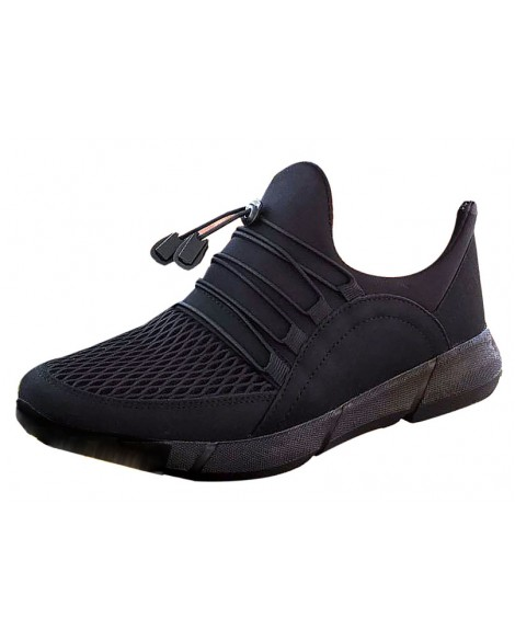Boy Uzatan Spor Ayakkabı Siyah  +7 cm.