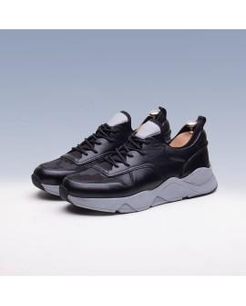 Boy Uzatan Spor Ayakkabı Siyah Kamuflaj +7 Cm.