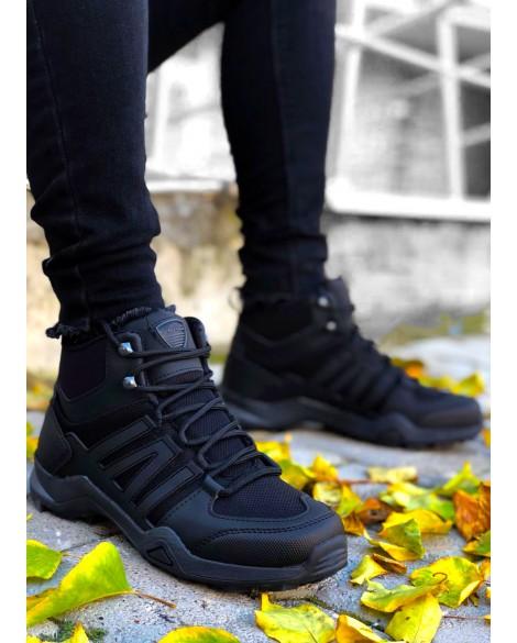 Boy Uzatan Spor Ayakkabı Siyah Outdoor