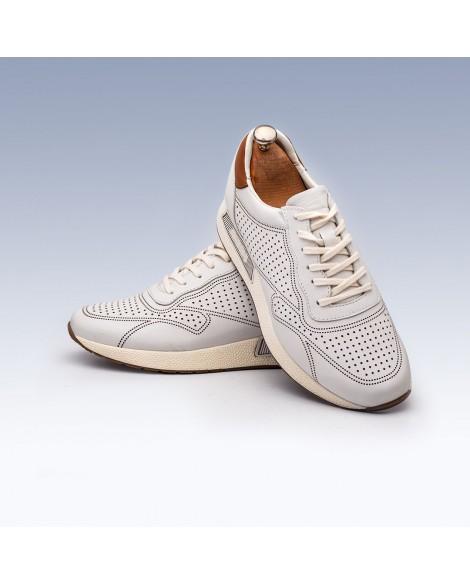 Deri Boy Uzatan Ayakkabı Beyaz