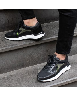 Boy Uzatan Ayakkabı Siyah Renk  Spor Model