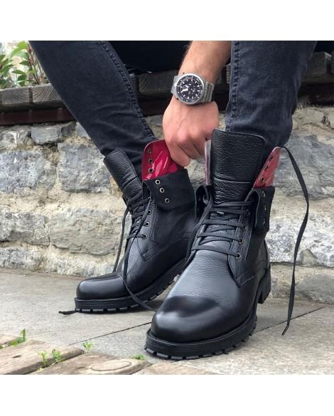 Boy Uzatan Ayakkabı  Kışlık Bot Siyah Bğazlı