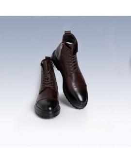 Boy Uzatan Ayakkabı Bot Kahverengi