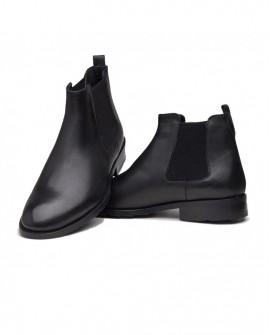 Boy Uzatan Ayakkabı  Kışlık Siyah Deri