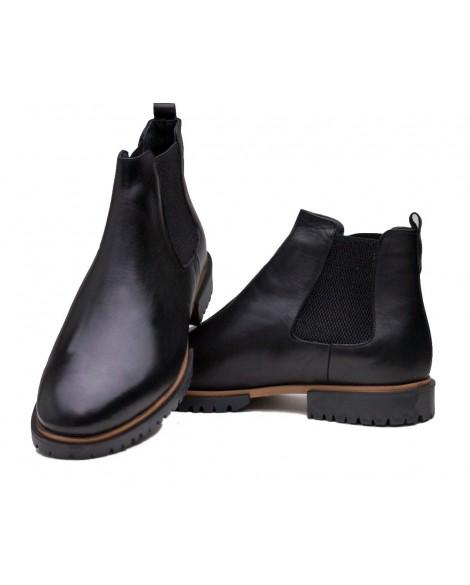 Sade Tasarım Boy Uzatan Ayakkabı  Kışlık Bot Siyah