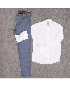 Siyah Gömlek Füme Pantolon Erkek Kombini