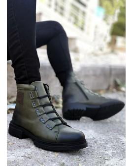 Boy Uzatan Ayakkabı Haki Kışlık Yeni Sezon