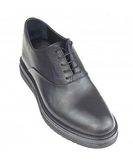 Boy Uzatan Ayakkabı Siyah Hakiki Deri Kışlık
