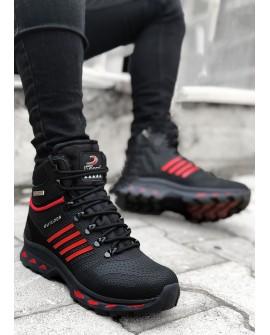 Gizli Topuk Erkek Spor Ayakkabı Siyah + 7 Cm.