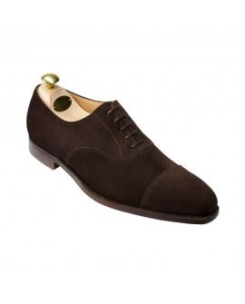 Hakiki Nubuk Gizli Topuk Ayakkabı Koyu Kahverengi