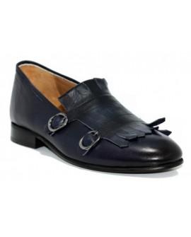 Lacivert Gizli Topuk Ayakkabı %100 İç Dış Deri