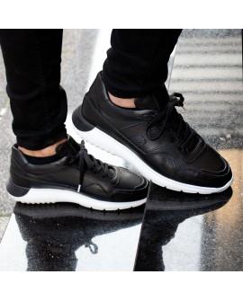 Boy Uzatan Ayakkabı Bağcıklı Siyah Spor Model