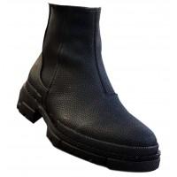 Boy Uzatan Ayakkabı Siyah Bot
