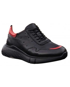 Boy Uzatan Spor Ayakkabı Siyah Kırmızı Yazlık
