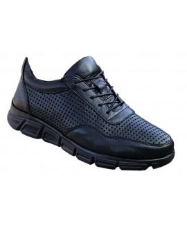 Boy Uzatan Spor Ayakkabı Yeni Sezon Siyah Deri