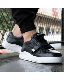 Boy Uzatan Ayakkabı Siyah iç dış hakiki deri