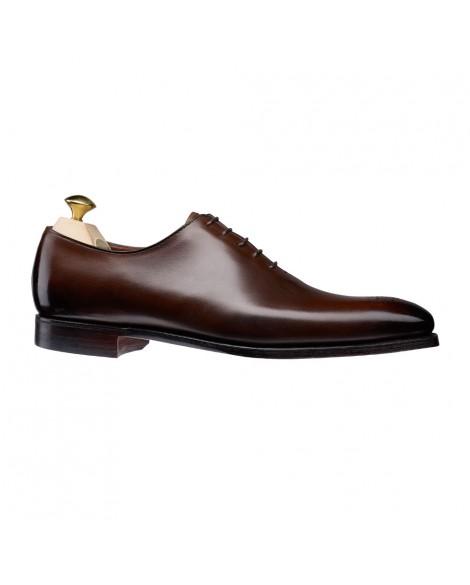 Boy uzatan ayakkabı siyah dana derisi Kahverengi
