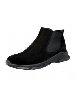 Boy Uzatan Ayakkabı Süet Siyah