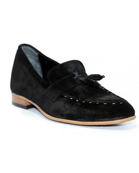 Yazlık Hakiki Süet Siyah Boy Uzatan Ayakkabı