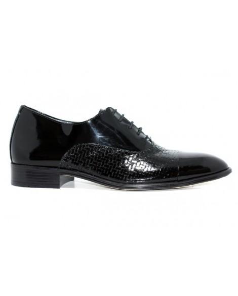 Gizli Topuk Damat Ayakkabısı Baskılı Model