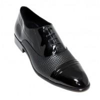 Baskılı Deri Gizli Topuk Ayakkabı