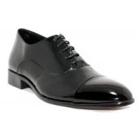 Baskılı Deri Rugan Erkek Gizli Topuk Ayakkabı